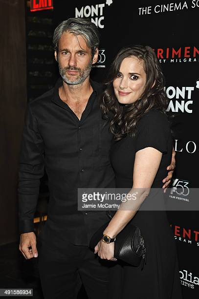 Scott Mackinlay and actress Winona Ryder attend The New York Film Festival Premiere Of Magnolia Pictures' Experimenter hosted by Montblanc The Cinema...