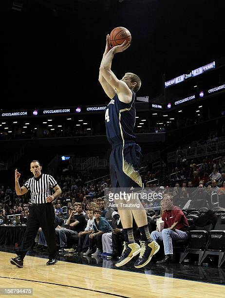 Scott Martin of the Notre Dame Fighting Irish takes a shot against the Saint Joseph's Hawks during a first round game of the Coaches Vs Cancer...
