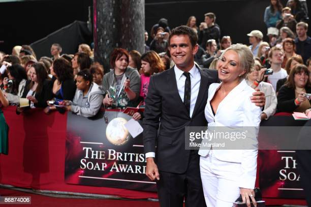 Scott Maslen and Rita Simons attend the British Soap Awards at BBC Television Centre on May 9 2009 in London England