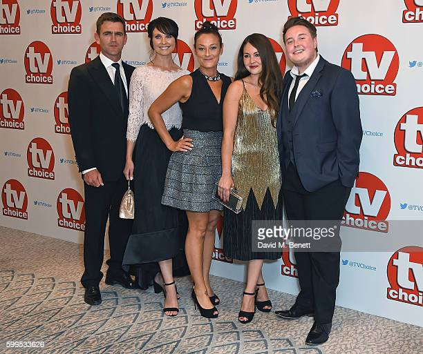 Scott Maslen Emma Barton Luisa BradshawWhite Lucy Turner and Riley Carter Millington arrive for the TVChoice Awards at The Dorchester on September 5...