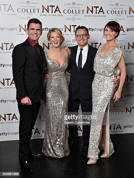 Scott Maslen Gillian Taylforth Perry Fewick and Emma Barton attend the 21st National Television Awards at The O2 Arena on January 20 2016 in London...
