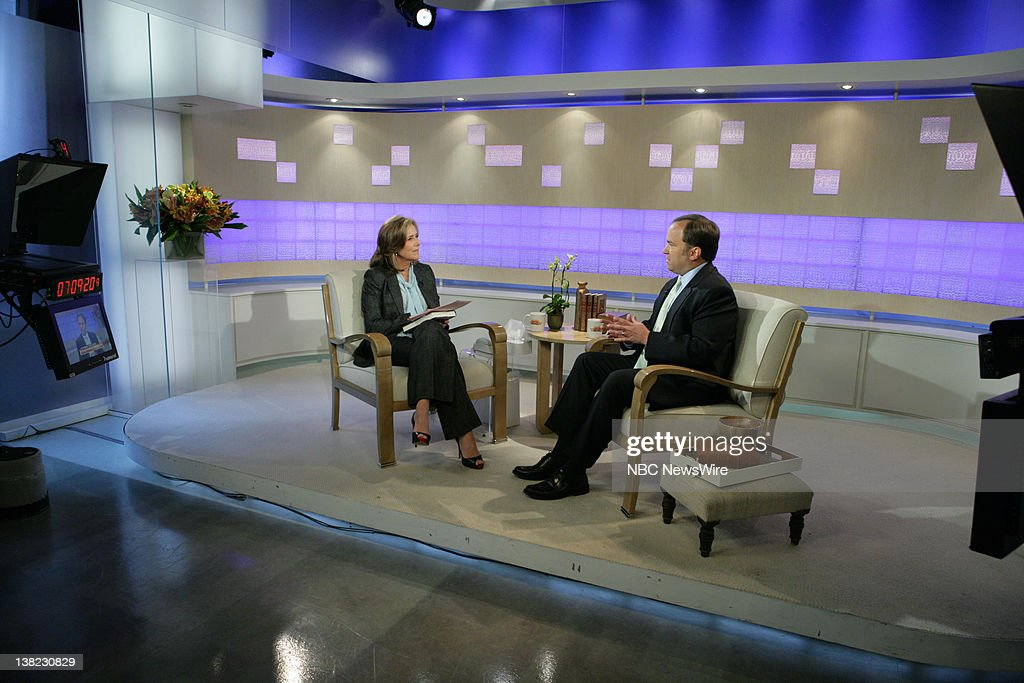 TODAY -- Scott McClellan -- Air Date -- Pictured: (l-r) NBC News' Meredith Vieira speaks with former White House press secretary Scott McClellan about his memoir, 'Inside the Bush White House and Washington's Culture of Deception' in an exclusive interview