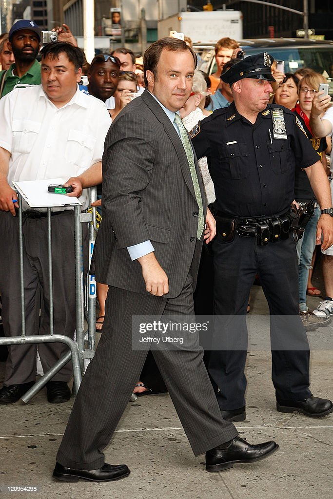 Scott McClellan visits 'Late Show with David Letterman' on June 11, 2008 at the Ed Sullivan Theatre in New York City.