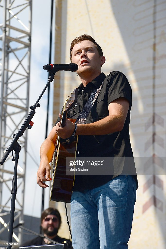 Scott McCreery performs on the Chevrolet Riverfront Stage at the 2015 CMA Festival on June 11 2015 in Nashville Tennessee