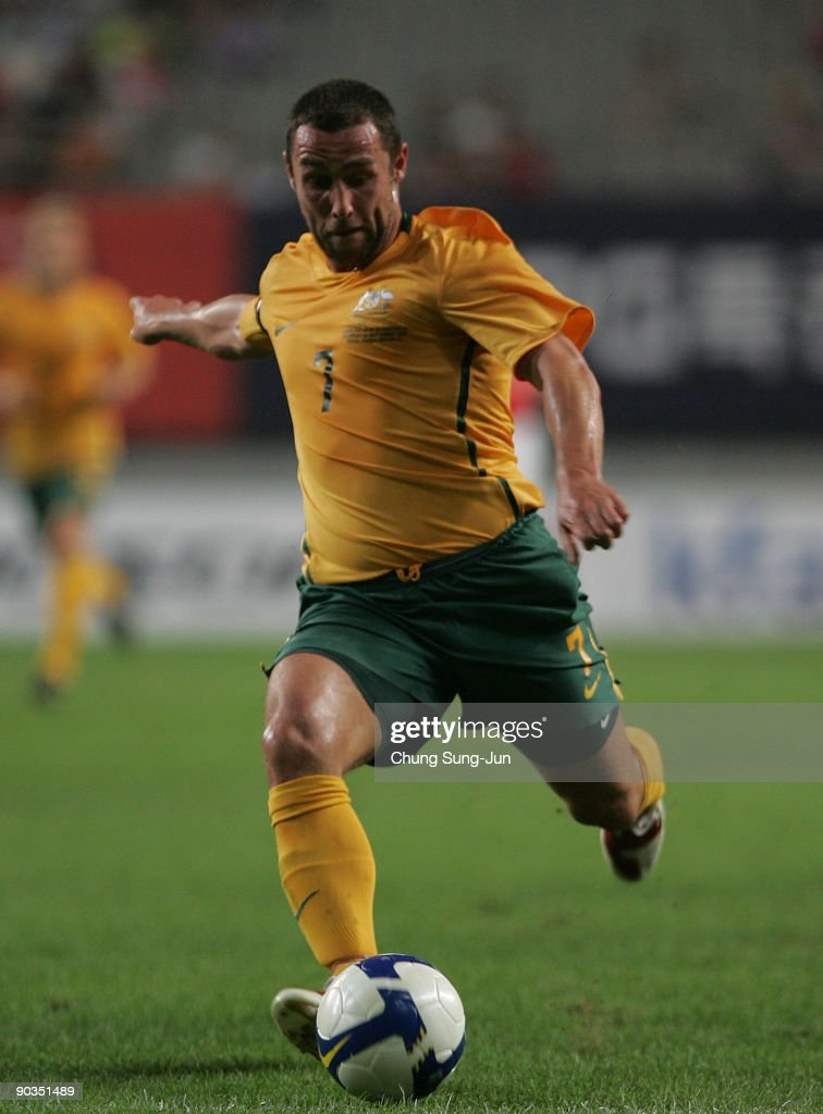 Scott Mcdonald of Australia in action during the international friendly match between South Korea and the Australian Socceroos at Seoul World Cup...