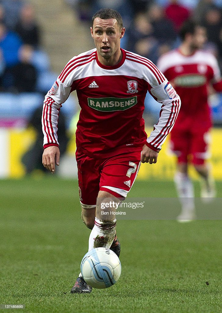 Scott McDonald of Middlesbrough in action during the npower Championship match between Coventry City and Middlesbrough at The Ricoh arena on January...