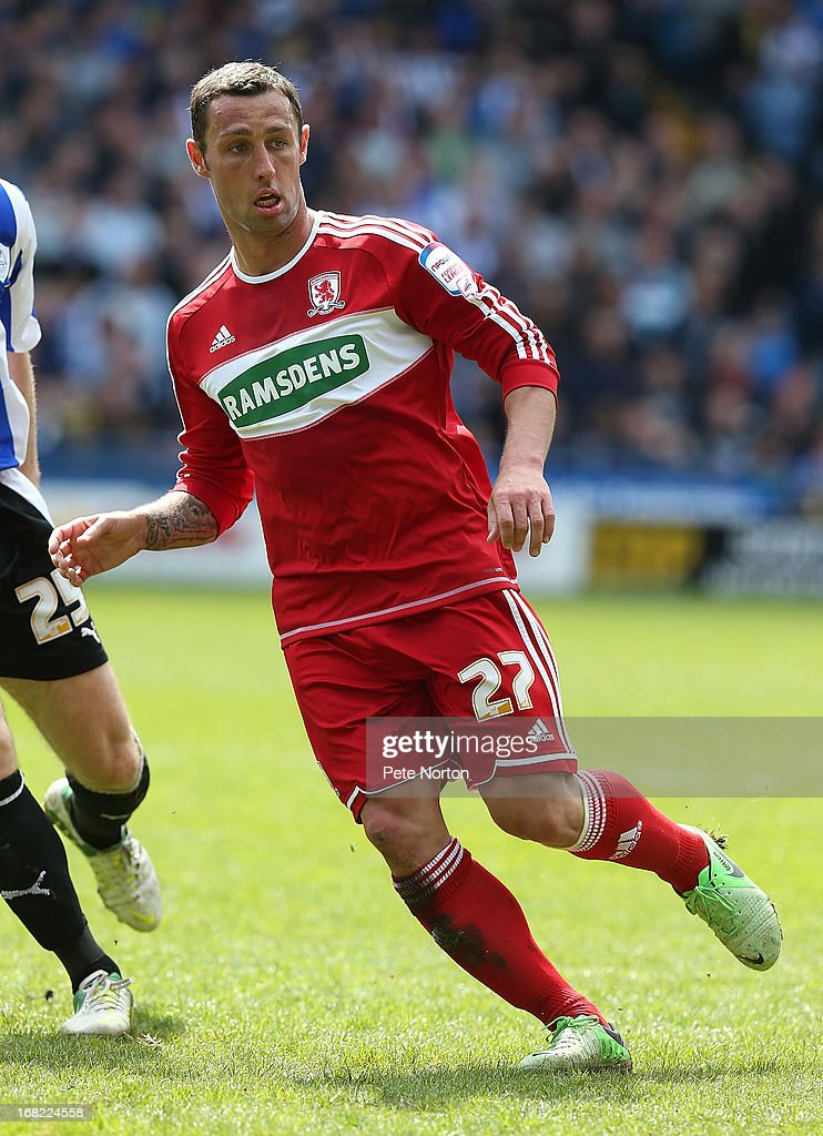 Scott McDonald of Middlesbrough in action during the npower Championship match between Sheffield Wednesday and Middlesbrough at Hillsborough Stadium...