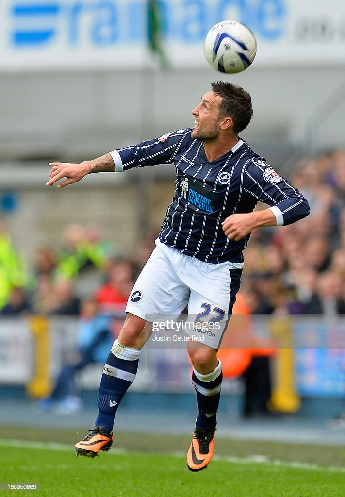 Scott McDonald of Millwall FC in action during the Sky Bet Championship match between Millwall and Queens Park Rangers at The Den on October 19 2013...