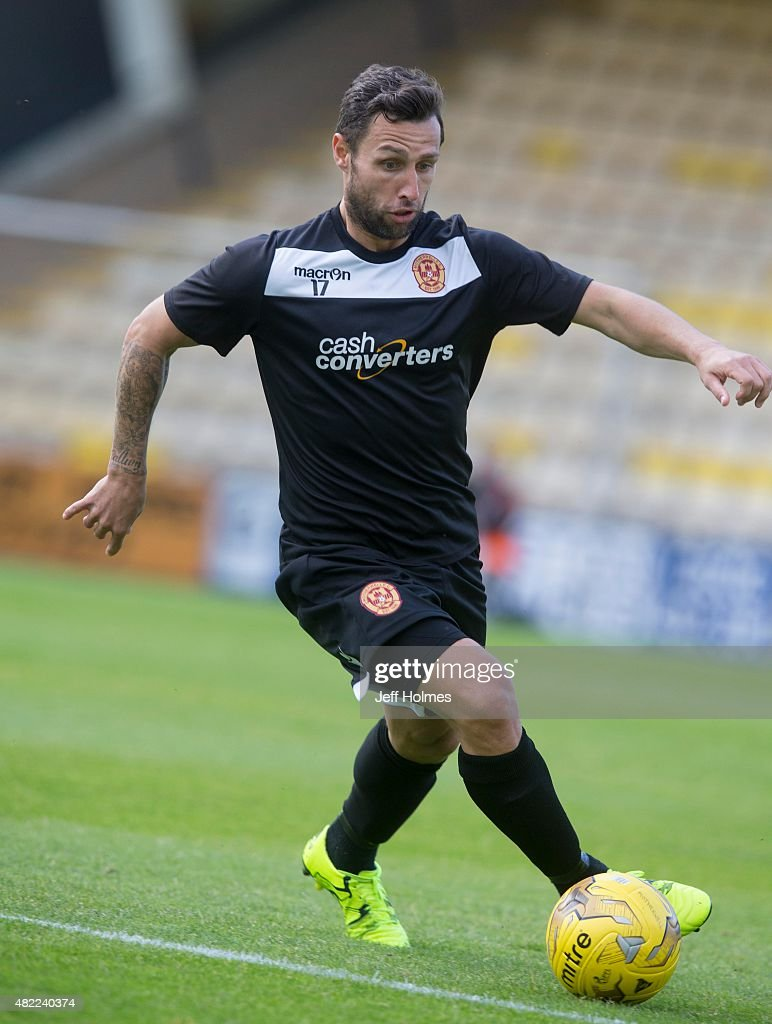 Scott McDonald of Motherwell in action at the Pre Season Friendly between Motherwell and Preston North End at the City Stadium on July 24th 2015 in...