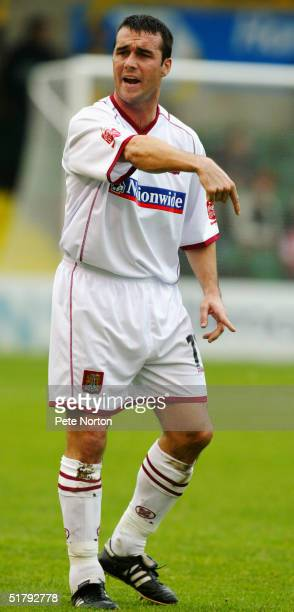 Scott McGleish of Northampton Town in action during the Coca Cola League Two match Lincoln City v Northampton Town held at Sincil Bank Lincoln on...