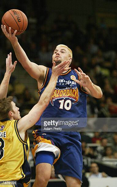 Scott McGregor of the Razorbacks in action during the round 2 NBL match between the West Sydney Razorbacks and the Brisbane Bullets played at the...