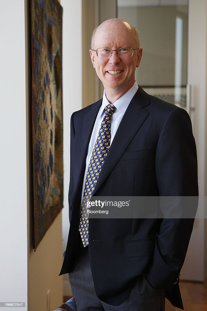 Scott McGregor, president and chief executive officer of Broadcom Corp., stands for a photograph in his office at the company's headquarters in Irvine, California, U.S., on Friday, April 12, 2013. Broadcom Corp. designs, develops, and supplies integrated circuits for cable set-top boxes, cable modems, high-speed networking, direct satellite and digital broadcast, and digital subscriber line. Photographer: Patrick Fallon/Bloomberg via Getty Images