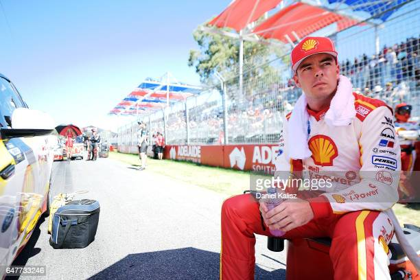 Scott McLaughlin driver of the Shell VPower Racing Team Ford Falcon FGX during race 1 for the Clipsal 500 which is part of the Supercars Championship...
