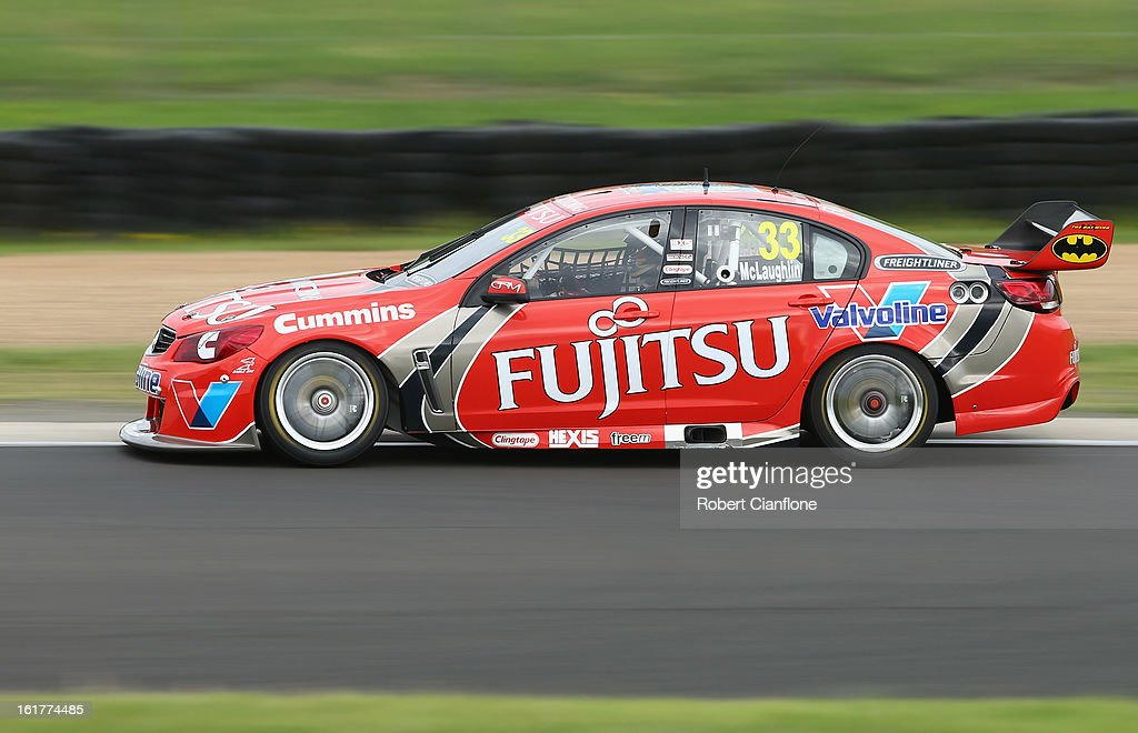 Scott McLaughlin drives the #33 Fujitsu Racing GRM Holden during the 2013 Official V8 Supercars test day at Sydney Motorsport Park on February 16, 2013 in Sydney, Australia.