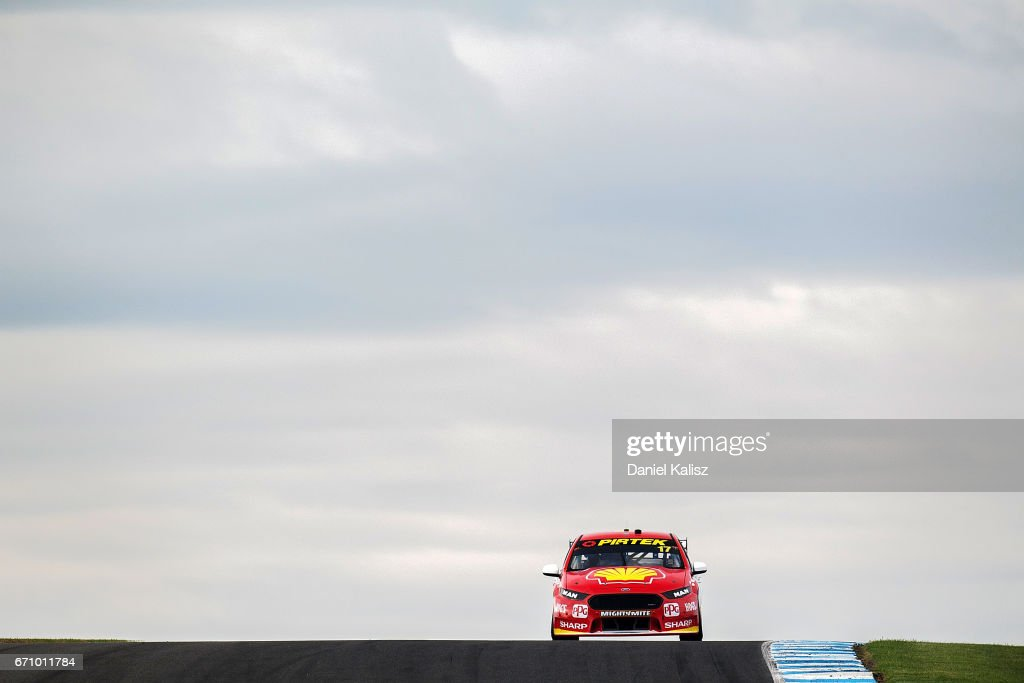 Scott McLaughlin drives the #17 Shell V-Power Racing Team Ford Falcon FGX during practice ahead of the Phillip Island 500, which is part of the Supercars Championship at Phillip Island Grand Prix Circuit on April 21, 2017 in Phillip Island, Australia.