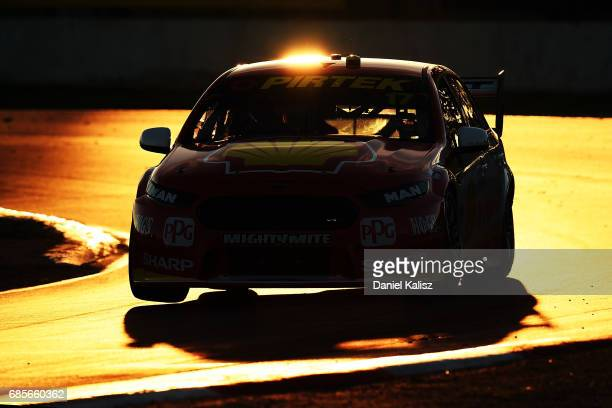 Scott McLaughlin drives the Shell VPower Racing Team Ford Falcon FGX during race 9 for the Winton SuperSprint which is part of the Supercars...