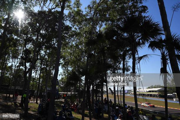 Scott McLaughlin drives the Shell VPower Racing Team Ford Falcon FGX during practice 3 for the Darwin Triple Crown which is part of the Supercars...