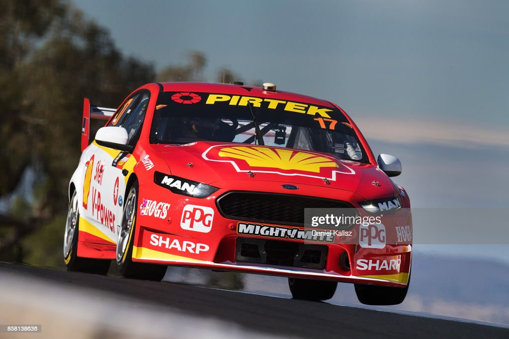 Scott McLaughlin drives the #17 Shell V-Power Racing Team Ford Falcon FGX during qualifying ahead of this weekend's Bathurst 1000, which is part of the Supercars Championship at Mount Panorama on October 6, 2017 in Bathurst, Australia.