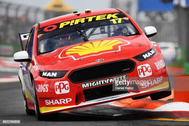 Scott McLaughlin drives the Shell VPower Racing Team Ford Falcon FGX during practice 1 for the Gold Coast 600 which is part of the Supercars...