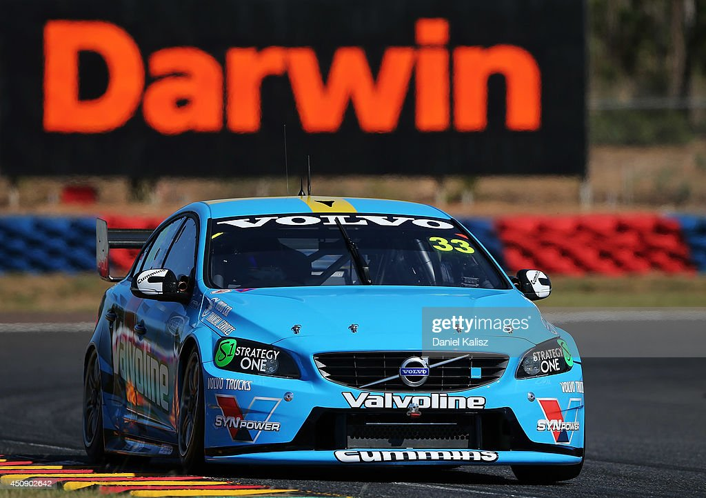 Scott McLaughlin drives the #33 Valvoline Racing GRM Volvo during practice for the Triple Crown Darwin, which is round six of the V8 Supercar Championship Series at Hidden Valley Raceway on June 20, 2014 in Darwin, Australia.