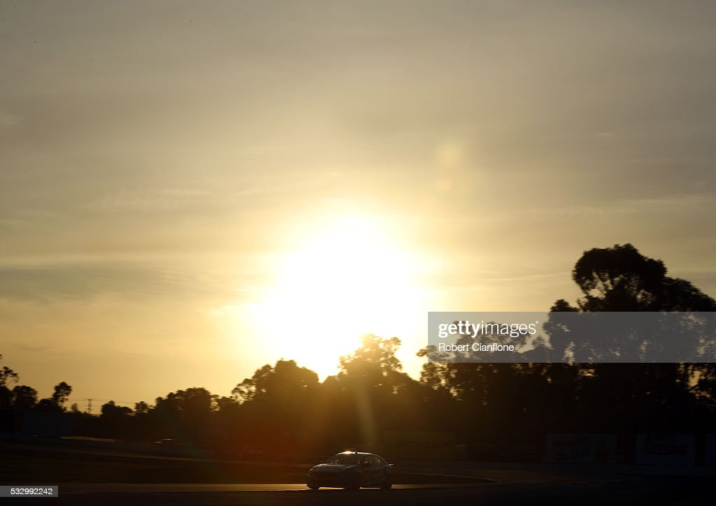Scott McLaughlin drives the Wilson Security Racing GRM Volvo during practice ahead of the Winton round of V8 SUpercars at Winton Motor Raceway on May...