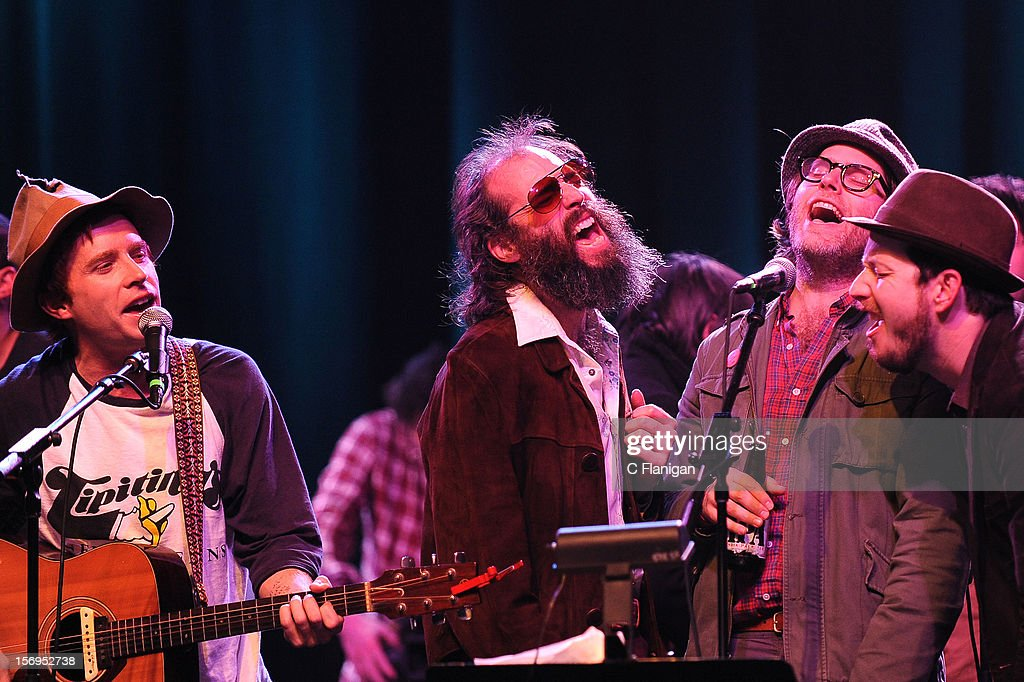 Scott McMicken, Eric D. Johnson, and Andy Cabic perform at The Last Waltz Tribute Concert at The Warfield Theater on November 24, 2012 in San Francisco, California.
