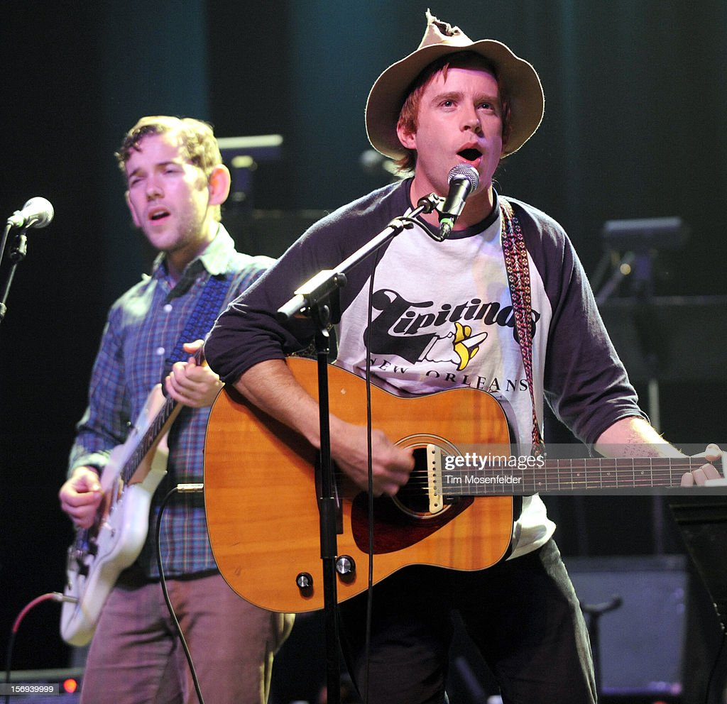 Scott McMicken of Dr. Dog performs during The Last Waltz Tribute Concert at The Warfield on November 24, 2012 in San Francisco, California.