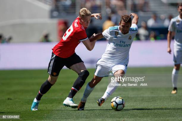 Scott McTominay of Manchester United and Mateo Kovacic of Real Madrid during the International Champions Cup 2017 match between Real Madrid v...