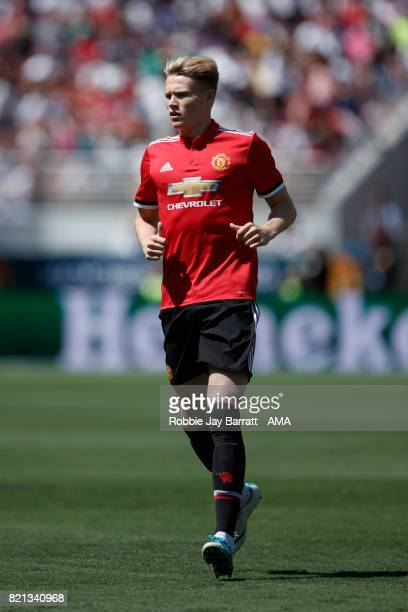 Scott McTominay of Manchester United during the International Champions Cup 2017 match between Real Madrid v Manchester United at Levi'a Stadium on...