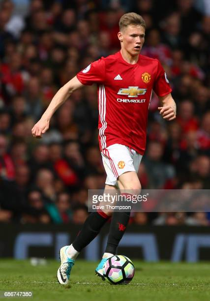 Scott McTominay of Manchester United during the Premier League match between Manchester United and Crystal Palace at Old Trafford on May 21 2017 in...