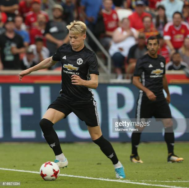 Scott McTominay of Manchester United in action during the preseason friendly match between Real Salt Lake and Manchester United at Rio Tinto Stadium...