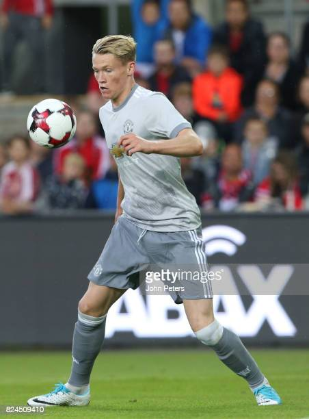 Scott McTominay of Manchester United in action during the preseason friendly match between Valerenga and Manchester United at Ullevaal Stadion on...