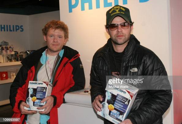 Scott Michal Campbell and Rory Cochrane during 2006 Park City Philips Lounge at Village at the Lift Day 6 at Philips Lounge in Park City Utah United...