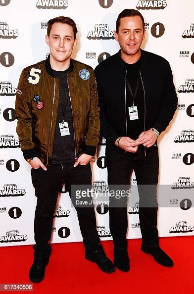 Scott Mills and Chris Stark attend the BBC Radio 1's Teen Awards at SSE Arena Wembley on October 23 2016 in London England