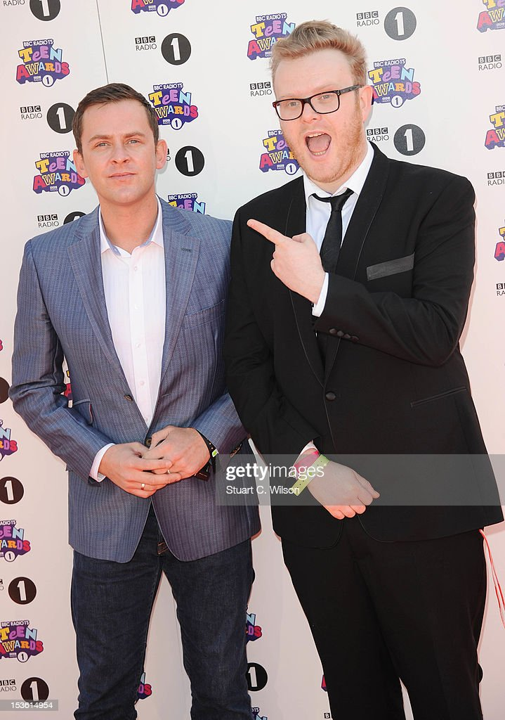 Scott Mills (L) attends the BBC Radio 1 Teen Awards on October 7, 2012 in London, England.