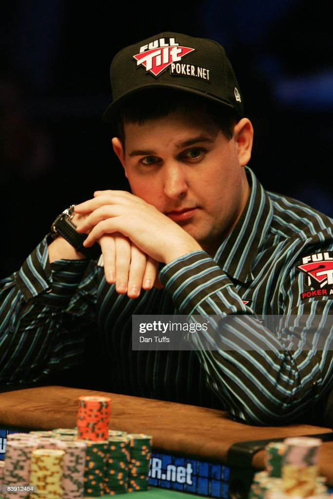 Scott Montgomery playing the final table of the World Series of Poker in Las Vegas, Nevada on November 9, 2008.