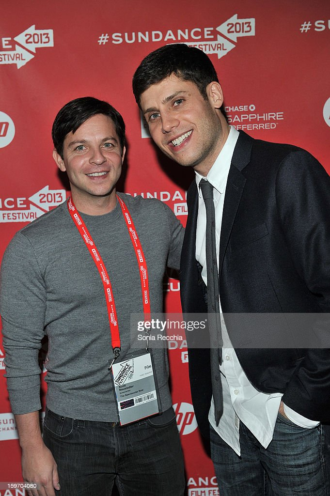 Scott Neustadter and Michael H. Weber attend 'The Spectacular Now' premiere at Library Center Theater during the 2013 Sundance Film Festival on January 18, 2013 in Park City, Utah.