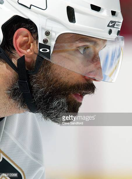 Scott Niedermayer of the Anaheim Ducks in action against the Ottawa Senators during Game Four of the 2007 Stanley Cup finals on June 4 2007 at...