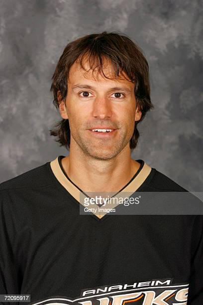 Scott Niedermayer of the Anaheim Ducks poses for a portrait at the Honda Center on September 14 2006 in Anaheim California