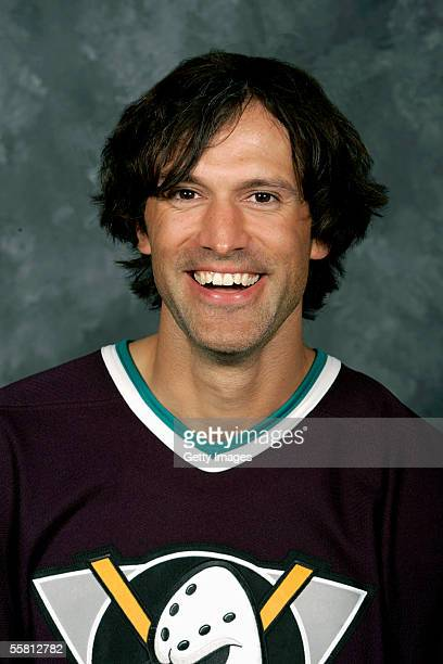 Scott Niedermayer of the Mighty Ducks of Anaheim poses for a portrait at the Arrowhead Pond on September 12 2005 in Anaheim California