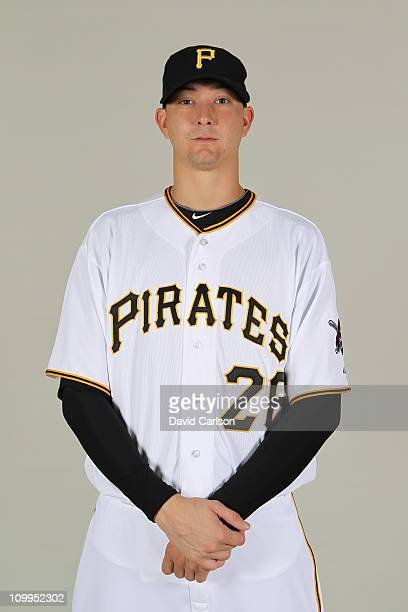 Scott Olsen of the Pittsburgh Pirates poses during Photo Day on Sunday February 20 2011 at McKechnie Field in Bradenton Florida