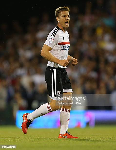 Scott Parker of Fulham during the Sky Bet Championship match between Fulham and Newcastle United at Craven Cottage on August 5 2016 in London England