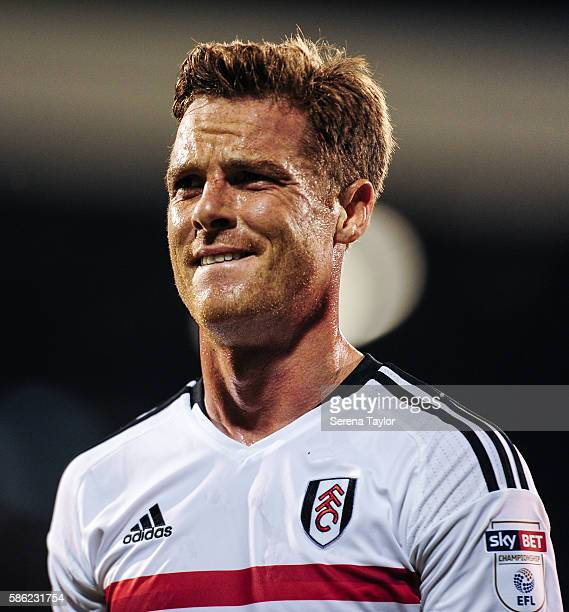 Scott Parker of Fulham walks off the pitch after the Sky Bet Championship Match between Fulham and Newcastle United at Craven Cottage on August 5 in...