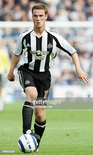 Scott Parker of Newcastle United pictured during the Barclays Premiership match between Portsmouth and Newcastle United at Fratton Park on October 1...
