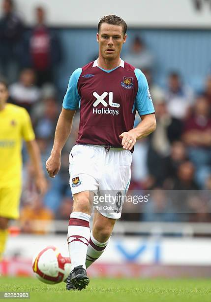 Scott Parker of West Ham in action during The Bobby Moore Cup pre season friendly match between West Ham United and Villarreal at Upton Park on...