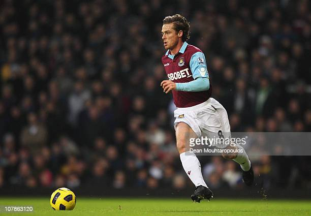 Scott Parker of West Ham United in action during the Barclays Premier League match between West Ham United and Wolverhampton Wanderers at the Boleyn...