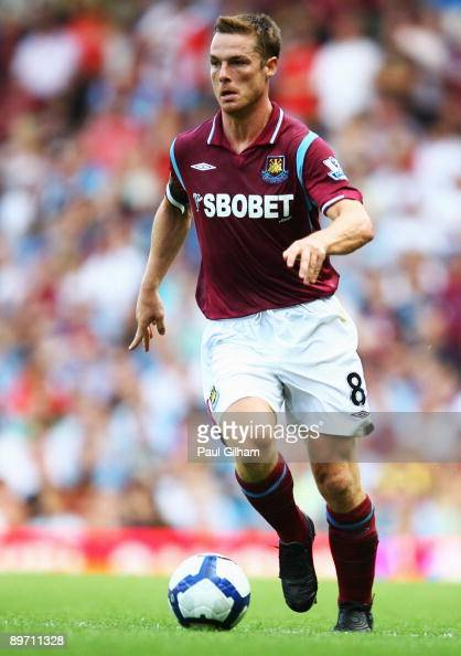 Scott Parker of West Ham United in action during the Bobby Moore Cup between West Ham United and Napoli at Upton Park on August 8 2009 in London...