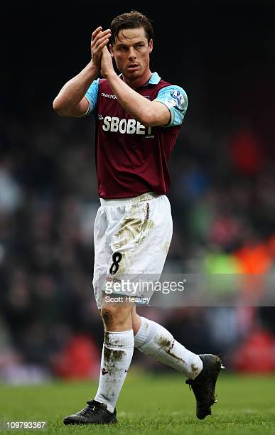 Scott Parker of West Ham United is seen during the Barclays Premier League match between West Ham United and Stoke City at the Boleyn Ground on March...
