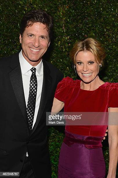 Scott Phillips and actress Julie Bowen attend the Fox And FX's 2014 Golden Globe Awards Party on January 12 2014 in Beverly Hills California
