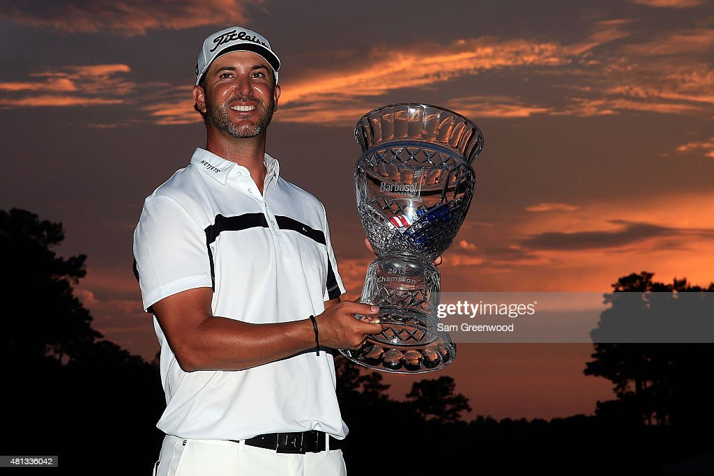 <a gi-track='captionPersonalityLinkClicked' href=/galleries/search?phrase=Scott+Piercy&family=editorial&specificpeople=4464716 ng-click='$event.stopPropagation()'>Scott Piercy</a> of the United States poses with the trophy after winning the Barbasol Championship at the Robert Trent Jones Golf Trail at Grand National Lake Course on July 19, 2015 in Auburn, Alabama.